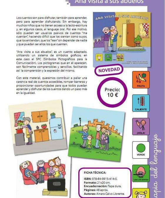 «Ana visita a sus abuelos», un libro en pictogramas a la venta en Librería Pedagógica