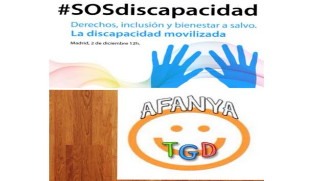 La Asociación AFANYA-TGD apoya a Autismo España, uniéndose a la Gran Marcha por la Discapacidad
