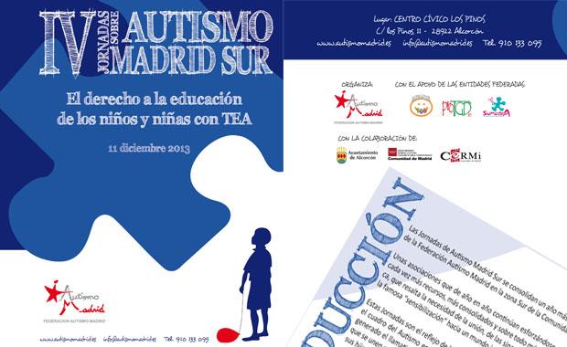 IV Jornada Autismo Madrid Sur: por el derecho a una Educación Inclusiva ¡inscríbete ya!