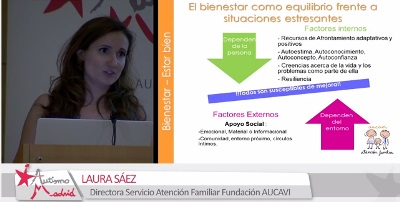 Laura Sáez en la V Jornada Autismo y Sanidad – Cómo lograr el bienestar emocional en las familias