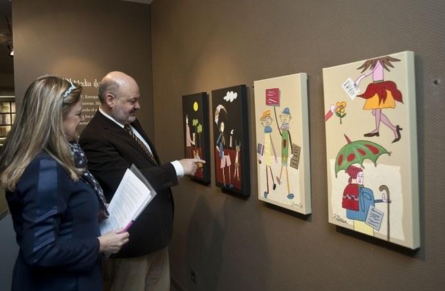 'Bibliomagia', una exposición de pintura de la Asociación Autismo Burgos