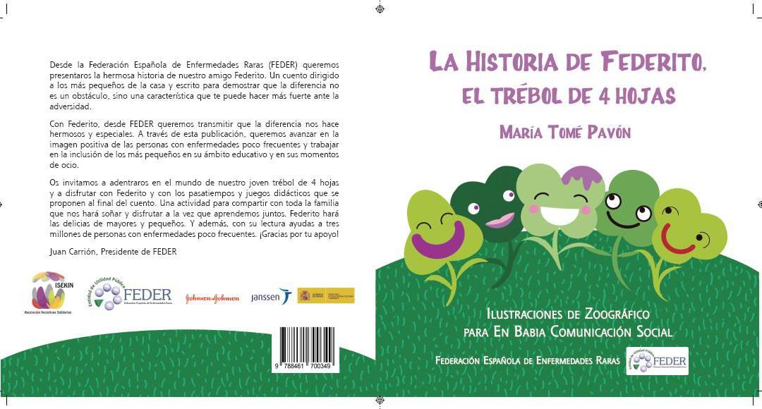 El cuento 'La historia de Federito, el trébol de cuatro hojas' se presenta hoy en Madrid