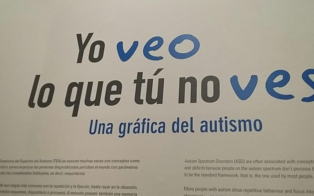 Obras realizadas por personas con autismo, en la exposición 'Yo veo lo que tú no ves. Una gráfica del autismo'