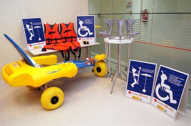 Playas accesibles para las personas con movilidad reducida