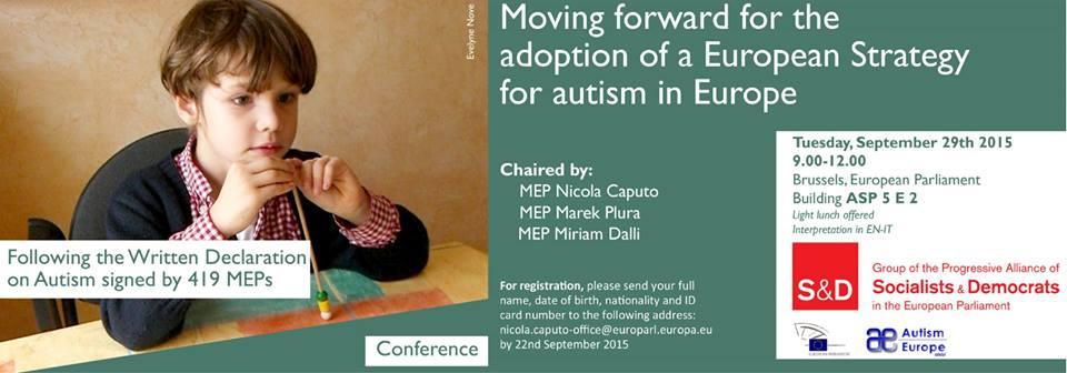 El Parlamento Europeo acoge una conferencia sobre la adopción de una estrategia europea sobre el Autismo