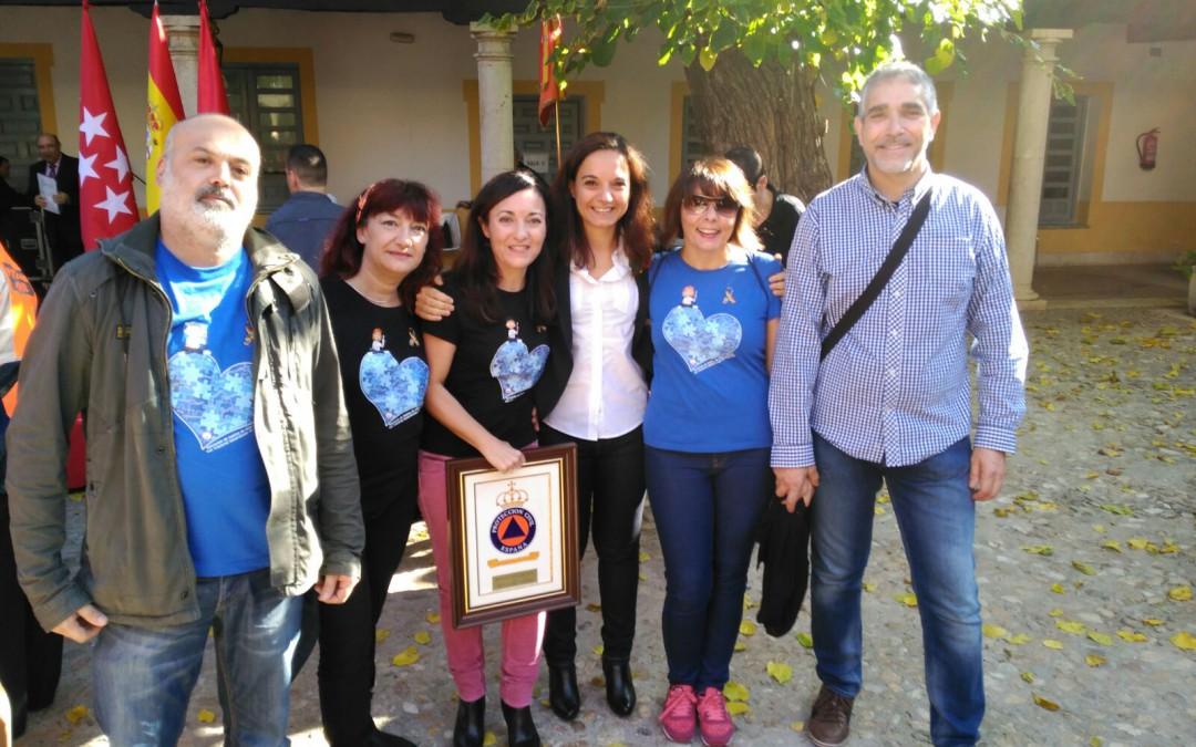 La Agrupación Municipal de Protección Civil de Getafe premia a la Asociación Afanya-TGD