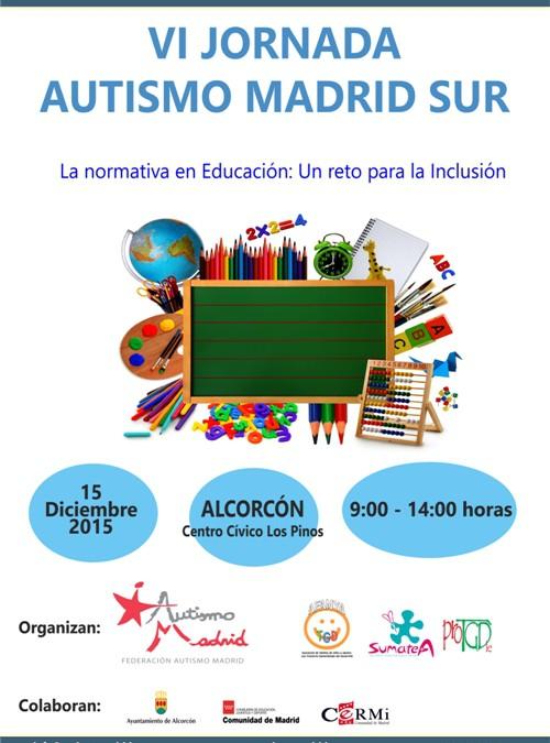 """Federación Autismo Madrid presenta la VI Jornada Autismo Madrid Sur """"La normativa en Educación, un reto para la inclusión"""""""