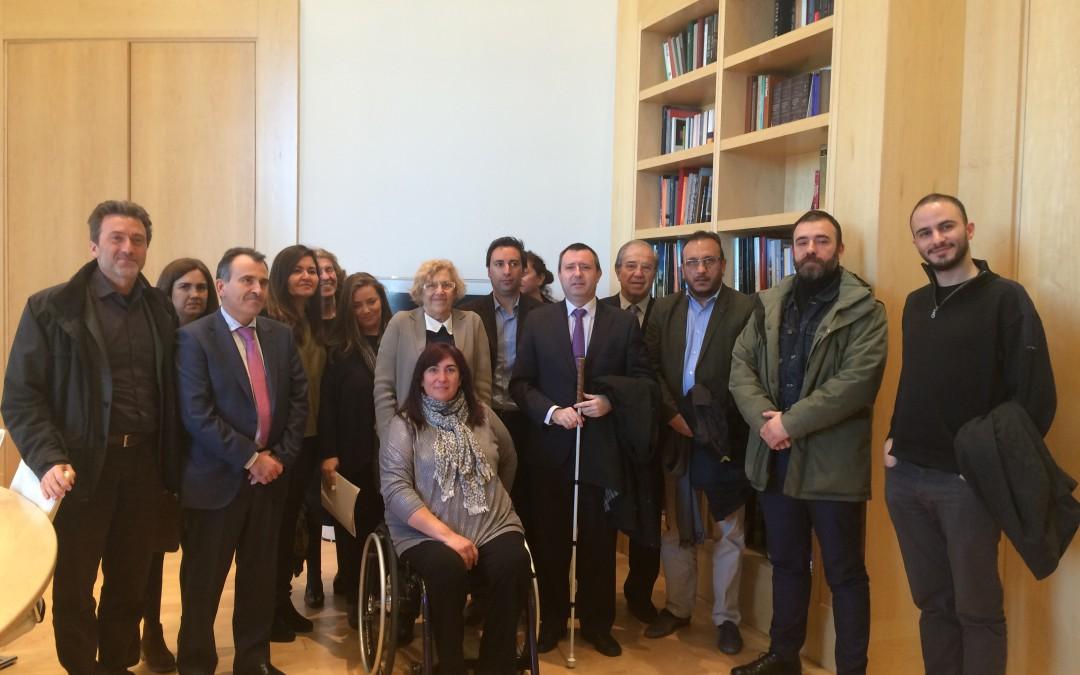 CERMI Madrid se reúne con el Ayuntamiento de la capital para impulsar un proceso participativo que mejore las políticas sobre discapacidad
