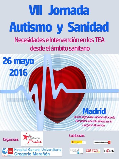 Inscripciones abiertas para la VII Jornada Autismo y Sanidad 'Necesidades e Intervención en los TEA desde el ámbito sanitario'