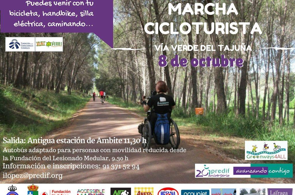 Predif organiza una marcha cicloturista en la Vía Verde de Tajuña