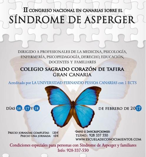 II Congreso Nacional en Canarias sobre el Síndrome de Asperger