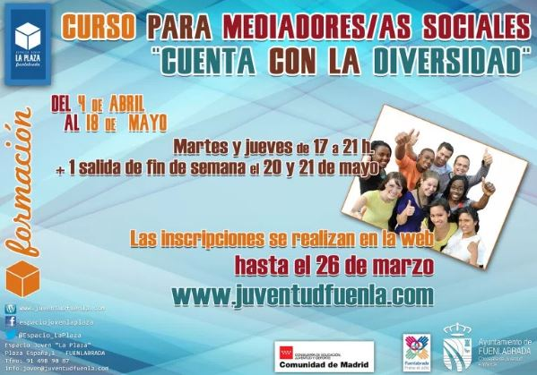 """Abierta la inscripción del curso para mediadores/as sociales """"Cuenta con la Diversidad"""""""