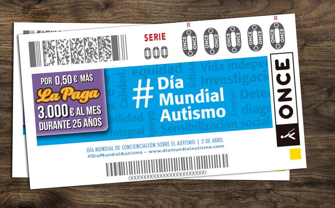 El 2 de abril, cupón de la ONCE por el Día Mundial de Concienciación sobre el Autismo