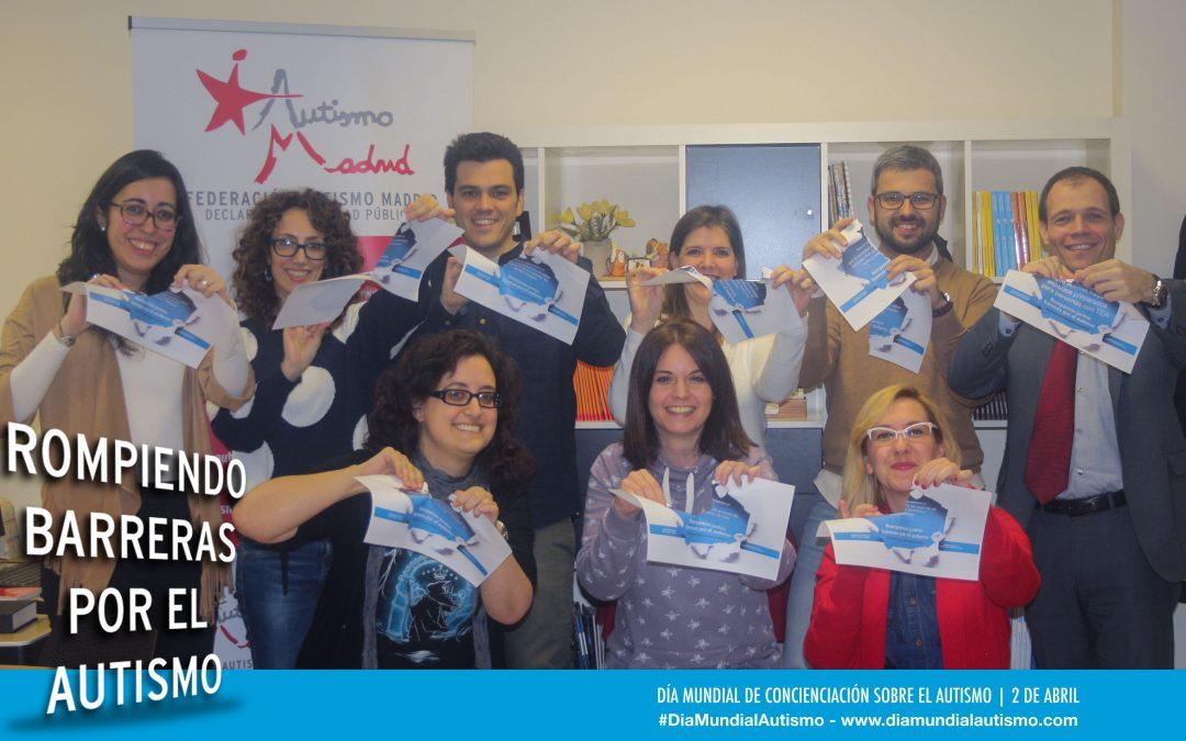 El equipo de Autismo Madrid se suma a la campaña por el Día Mundial de Concienciación sobre el Autismo