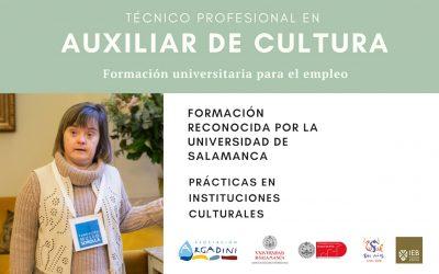 Abierta la matrícula para la formación de Técnico profesional en Auxiliar de cultura
