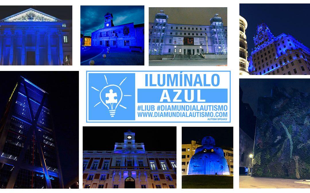 Más de 35 edificios se han iluminado de azul en la Comunidad de Madrid por el Autismo