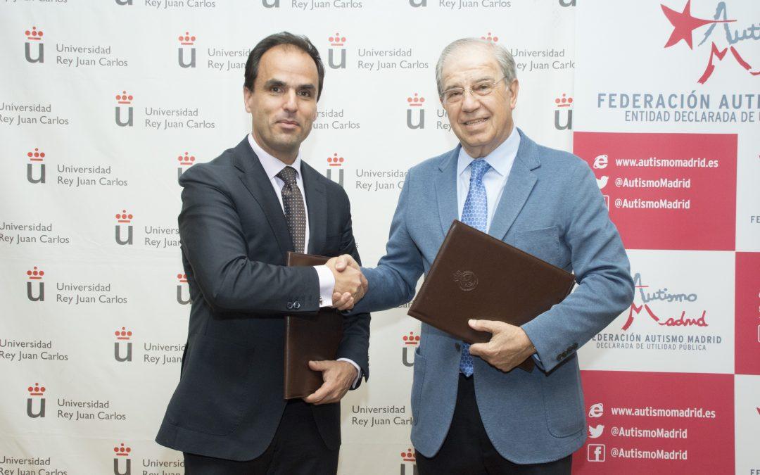 Autismo Madrid firma un convenio de colaboración con la Universidad Rey Juan Carlos