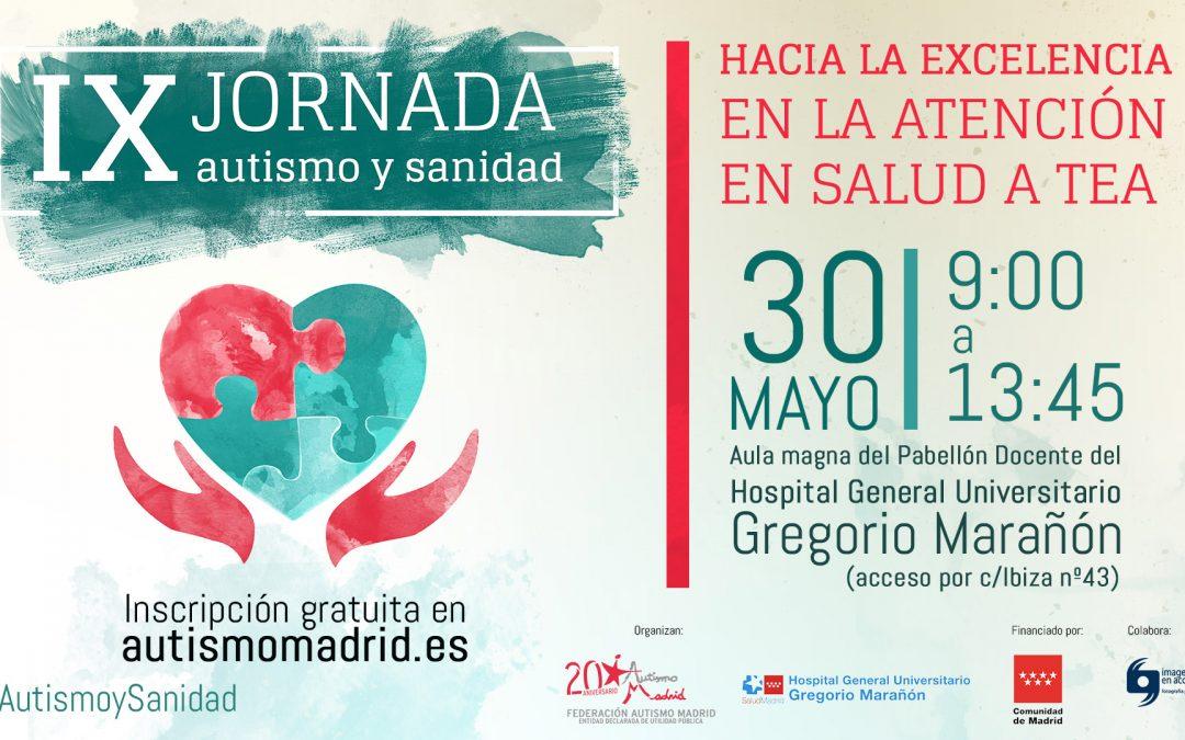 """IX Jornada Autismo y Sanidad """"Hacia la excelencia en la atención en salud a TEA"""" de Federación Autismo Madrid"""