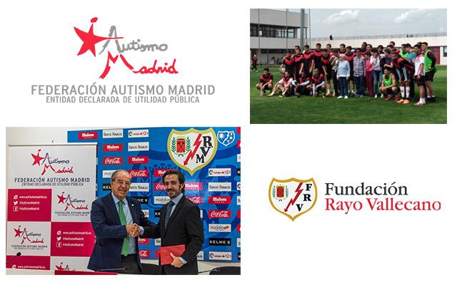 Federación Autismo Madrid firma un convenio de colaboración con la Fundación Rayo Vallecano