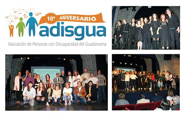 Adisgua celebra su 10º aniversario con una gala homenaje