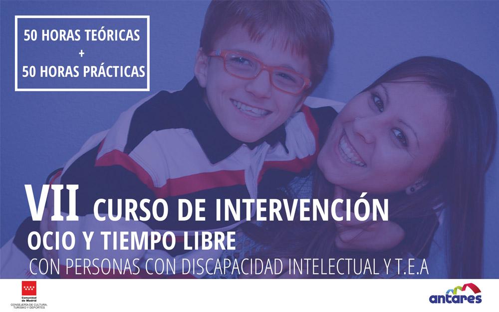 VII Curso Intervención en Ocio y tiempo libre con personas con discapacidad y TEA de ANTARES