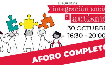 Aforo completo para la II Jornada Integración Social y Autismo
