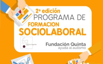 Fundación Quinta presenta la 2ª edición de su programa de formación sociolaboral dirigido a personas con TEA