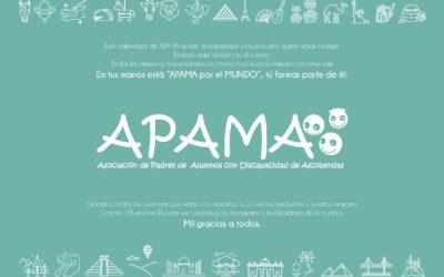 APAMA presenta su calendario solidario para 2019