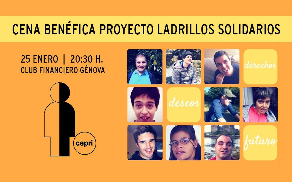 Cena solidaria a favor del proyecto Ladrillos Solidarios de Asociación CEPRI