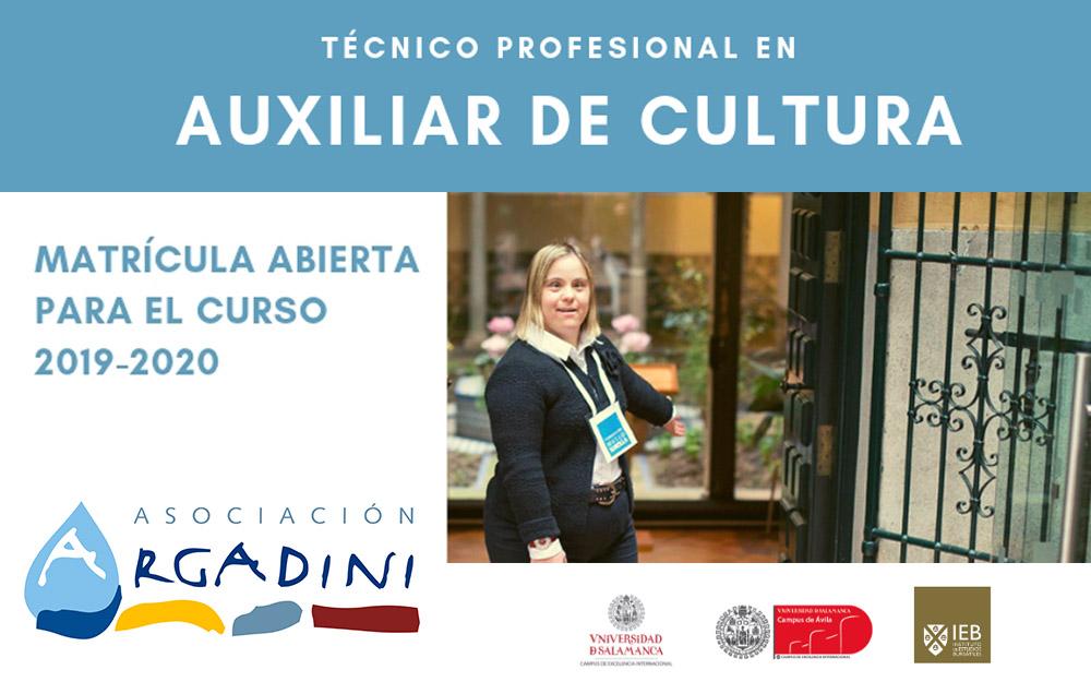 Abierta la matrícula para «Técnico profesional en auxiliar de cultura», de Argadini