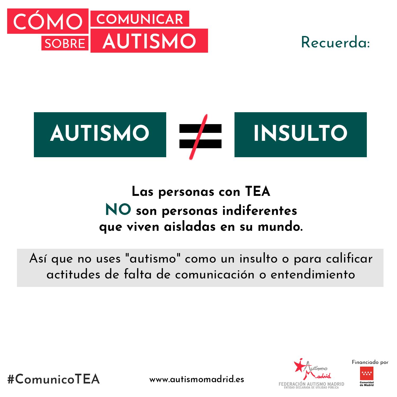 Cómo comunicar sobre autismo: Recuerda