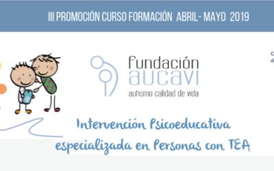 Curso «Intervención Psicoeducativa especializada en Personas con TEA» de AUCAVI