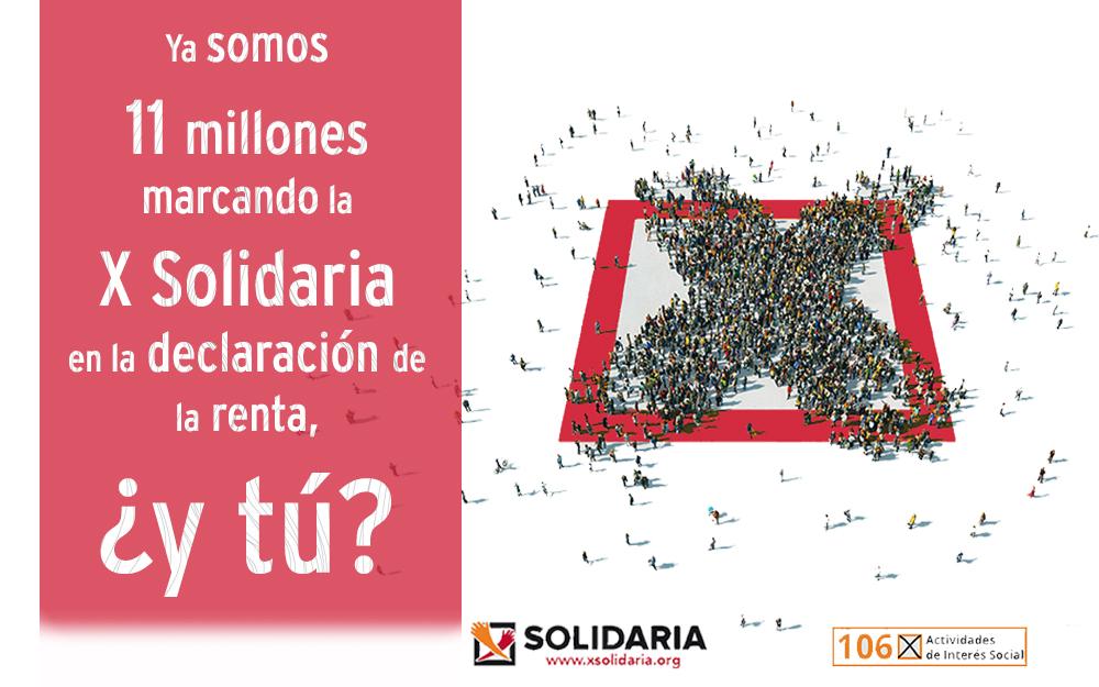 Marca la X Solidaria en la Declaración de la Renta