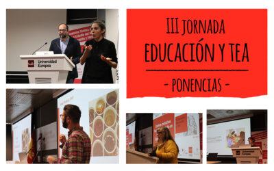 Ya están disponibles las ponencias de la III Jornada Educación y TEA