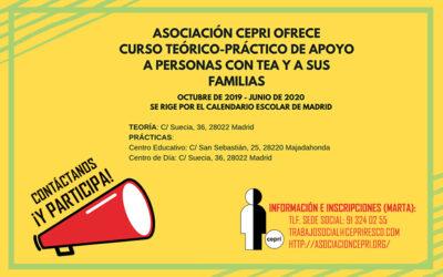 CEPRI ofrece una nueva edición del curso «Apoyo a personas con TEA y sus familias»