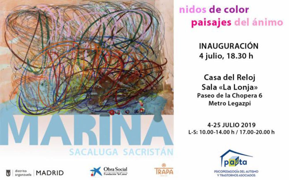 La artista con autismo, Marina Sacaluga, inaugura su exposición 'Nidos de color, paisajes de ánimo'