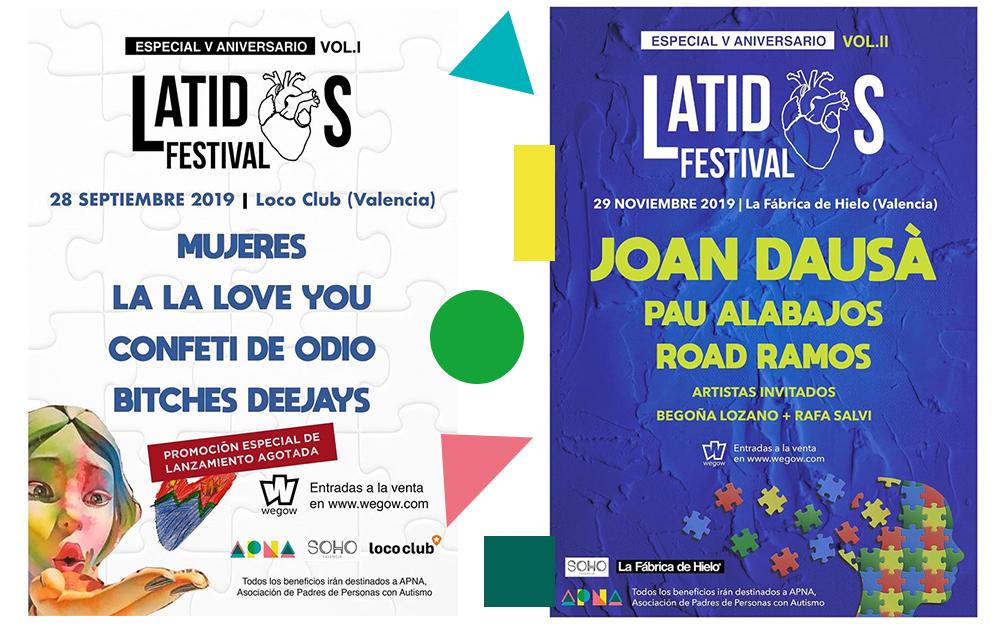 Dos conciertos en Latidos Festival a beneficio de APNA