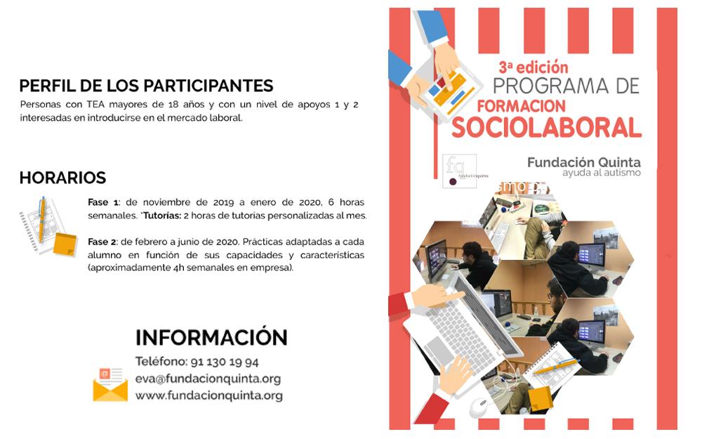 3ª edición delPrograma de Formación Sociolaboral de Fundación Quinta