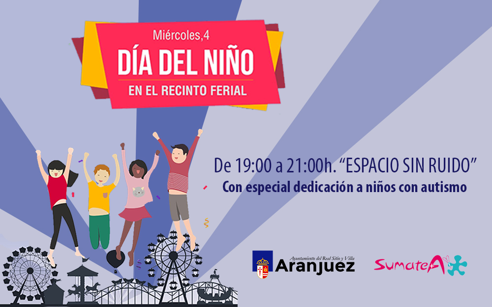 Espacio sin ruido en el recinto ferial de Aranjuez con especial dedicación a niños y niñas con autismo
