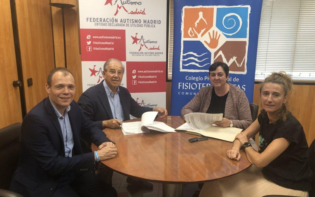 Autismo Madrid y el Colegio Profesional de Fisioterapeutas firman un convenio marco de colaboración