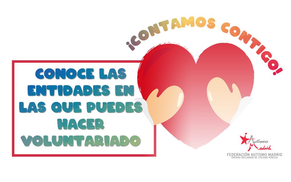 Ofertas de voluntariado en entidades federadas en Autismo Madrid