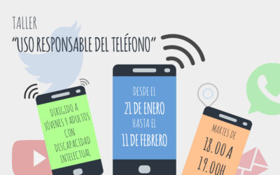 Taller sobre Gestión del móvil y uso responsable dirigido a jóvenes y adultos con discapacidad intelectual