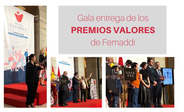 Acudimos a la gala de entrega de los Premios Valores de Femaddi