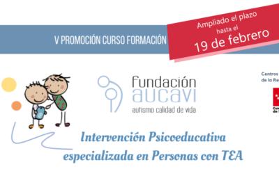 Ampliado el plazo de matrícula para el curso «Intervención Psicoeducativa especializada en Personas con TEA»