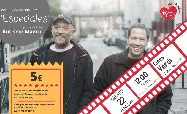 Preestreno solidario de la película Especiales