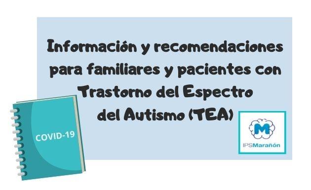 Información y recomendaciones del servicio AMI-TEA del HGU Gregorio Marañón