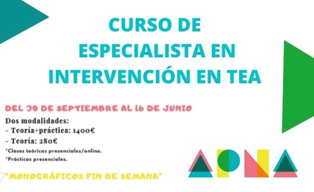 Curso de especialista en intervención en TEA de APNA