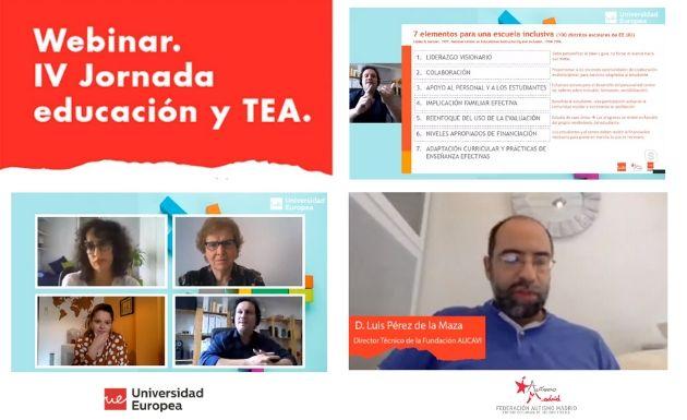 Conclusiones IV Jornada Educación y TEA de la Universidad Europea y Autismo Madrid