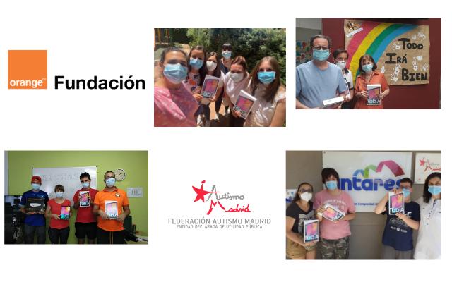 Fundación Orange dona 60 tabletas a las entidades de Autismo Madrid