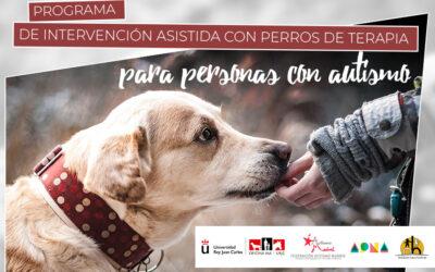 Ampliamos el programa de intervenciones asistidas con perros de terapia en colaboración con la URJC